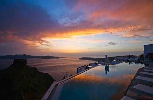 圣托里尼伊亞小鎮去看世界上最美的落日