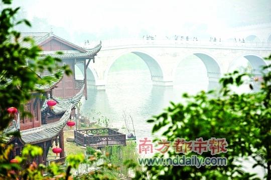 重慶園博園內的聽雨橋。IC供圖
