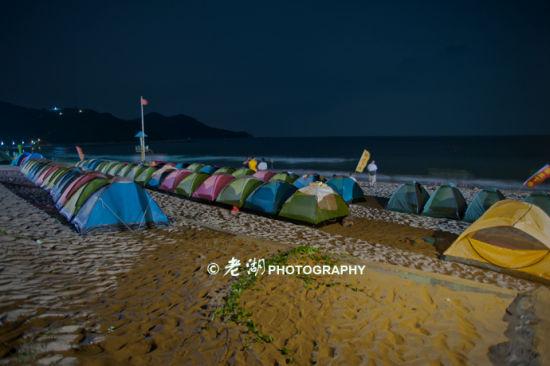 支起的小帐篷_盛夏夜的狂欢 广东露营海岛大盘点之荷包岛_新浪旅游_新浪网