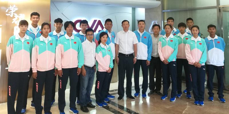 中俄青少年運動會沙灘排球隊抵達薩馬拉