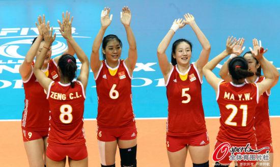 中国女排队员
